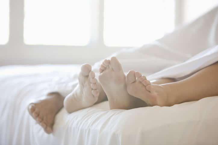 Vispring matras met voeten